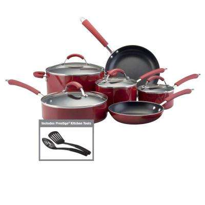 Millennium 12-Piece Red Cookware Set with Lids