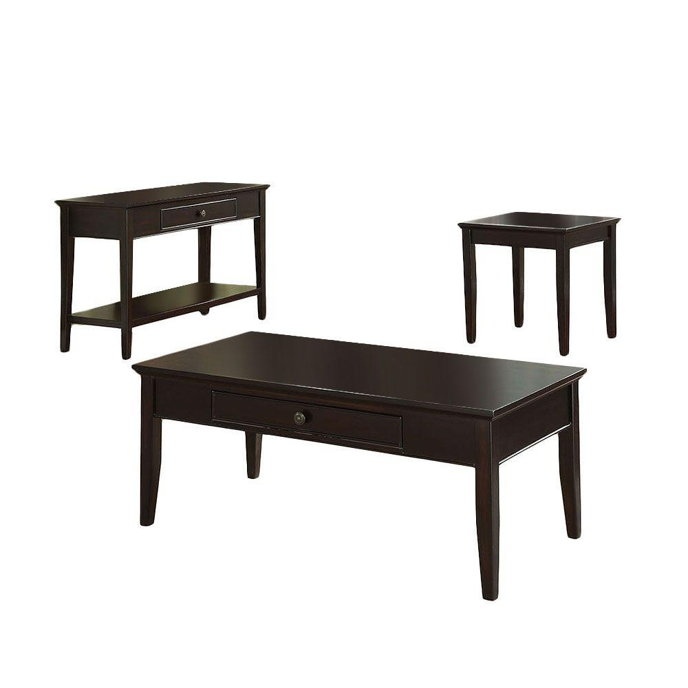 Furniture of America Middleton Dark Cherry 3-Piece Table Set