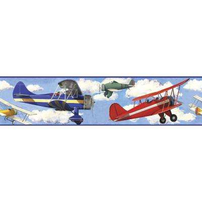 Vintage Planes Peel and Stick Wallpaper Border