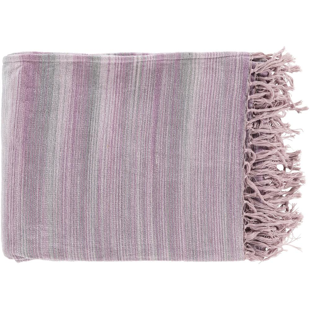 Simonov  Mauve Cotton Throw