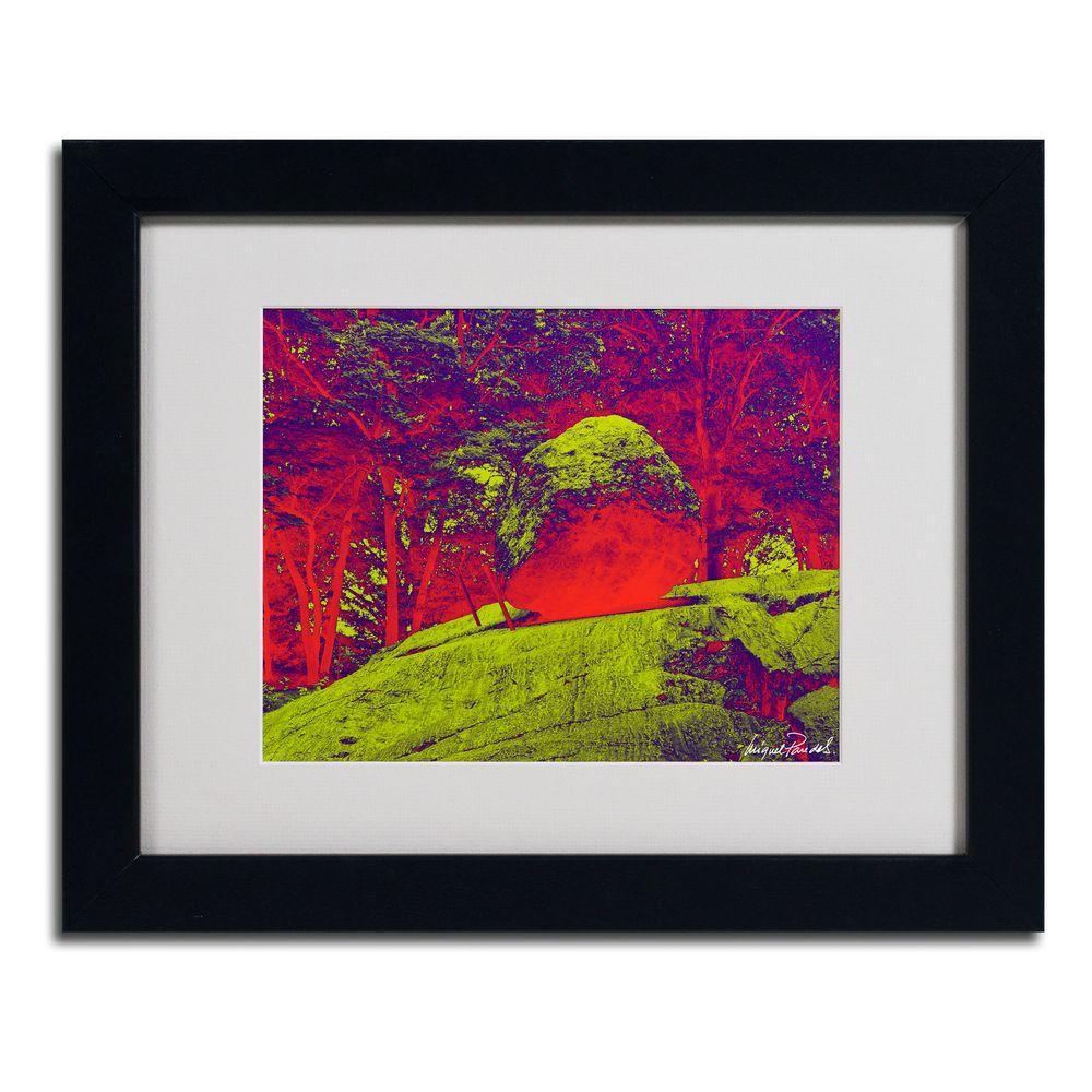 Trademark Fine Art 11 in. x 14 in. Enchanged Rock I Matted Framed Art