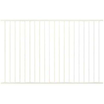 Pro Series 4.84 ft. H x 7.75 ft. W White Steel Fence Panel