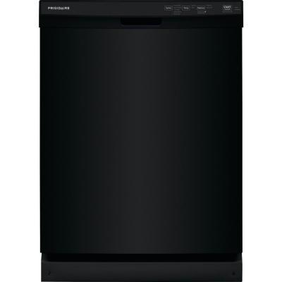 24 in. Black Front Control Built-In Dishwasher, 55 dBA