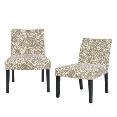 Nate Barley Gray Damask Side Chairs (Set of 2)