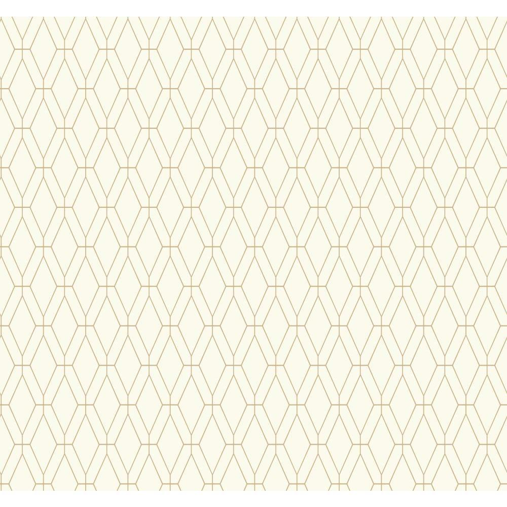 York Wallcoverings Ashford Geometrics Diamond Lattice Wallpaper
