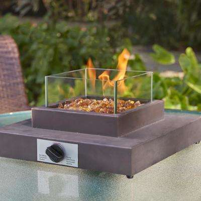 8,000BTU Antique Bronze Portable Table Top Gas Fire Pit