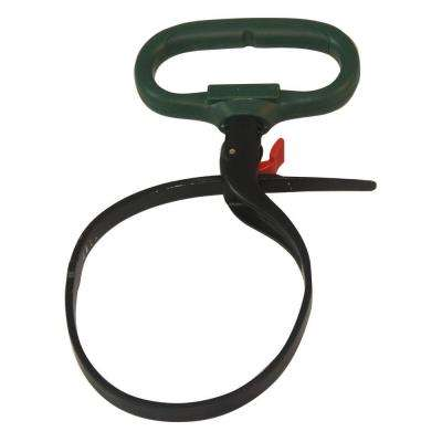 2 in. Reusable Heavy-Duty Clamp Cable Tie in Green