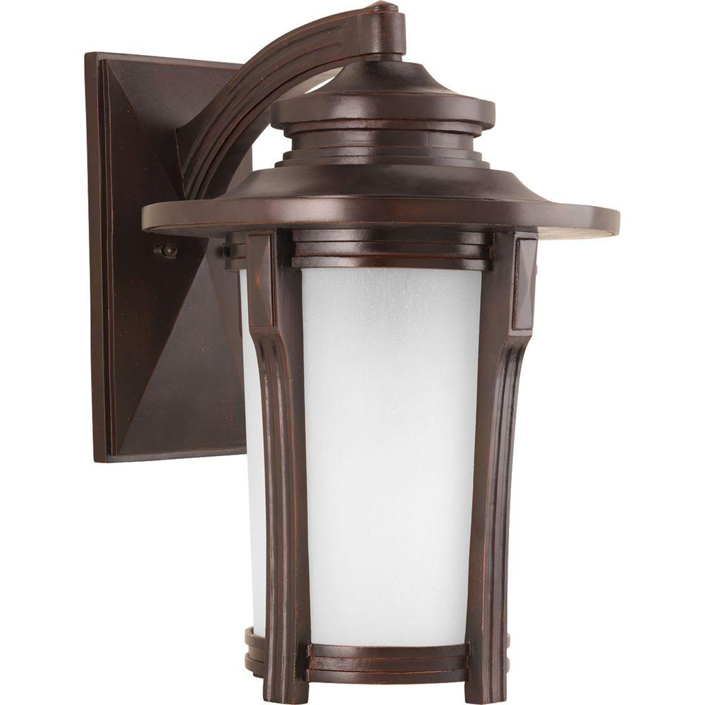 Progress Lighting Pedigree Collection 1-Light Autumn 19.4 in. Outdoor Haze Wall Lantern Sconce