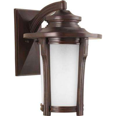 Pedigree Collection 1-Light Autumn 19.4 in. Outdoor Haze Wall Lantern Sconce