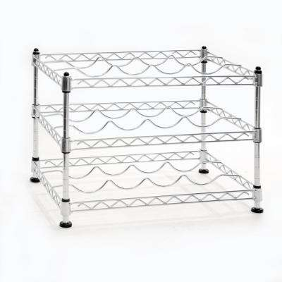 12-Bottle UltraZinc Floor Wine Rack