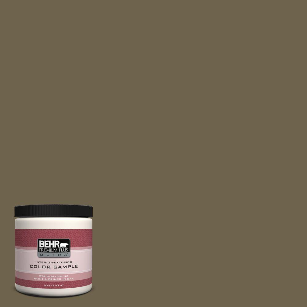 BEHR Premium Plus Ultra 8 oz. Home Decorators Collection Peat Interior/Exterior Paint Sample