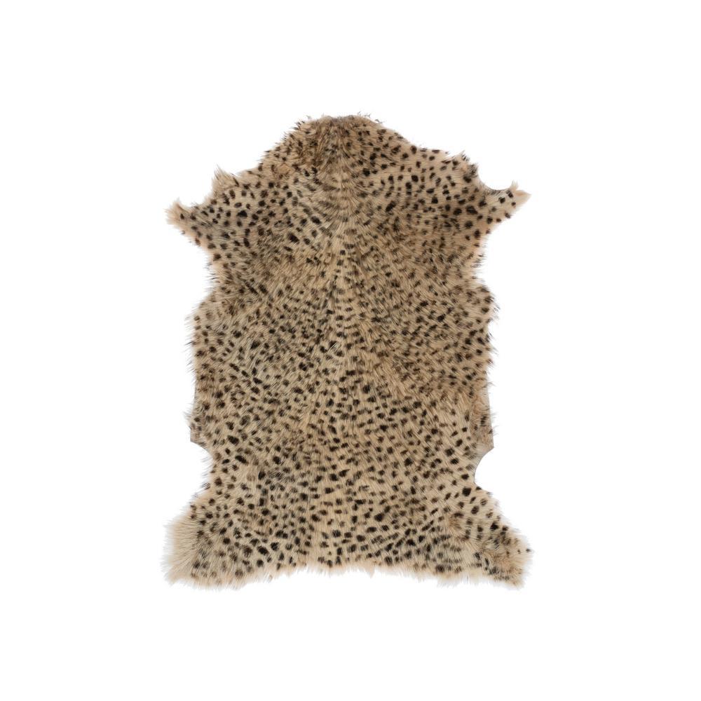 Tan 2 ft. x 3 ft. Leopard Print Area Rug