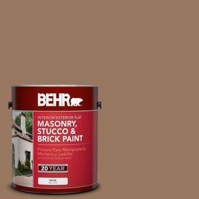1-gal. #MS-18 Clay Brown Flat Interior/Exterior Masonry, Stucco and Brick Paint