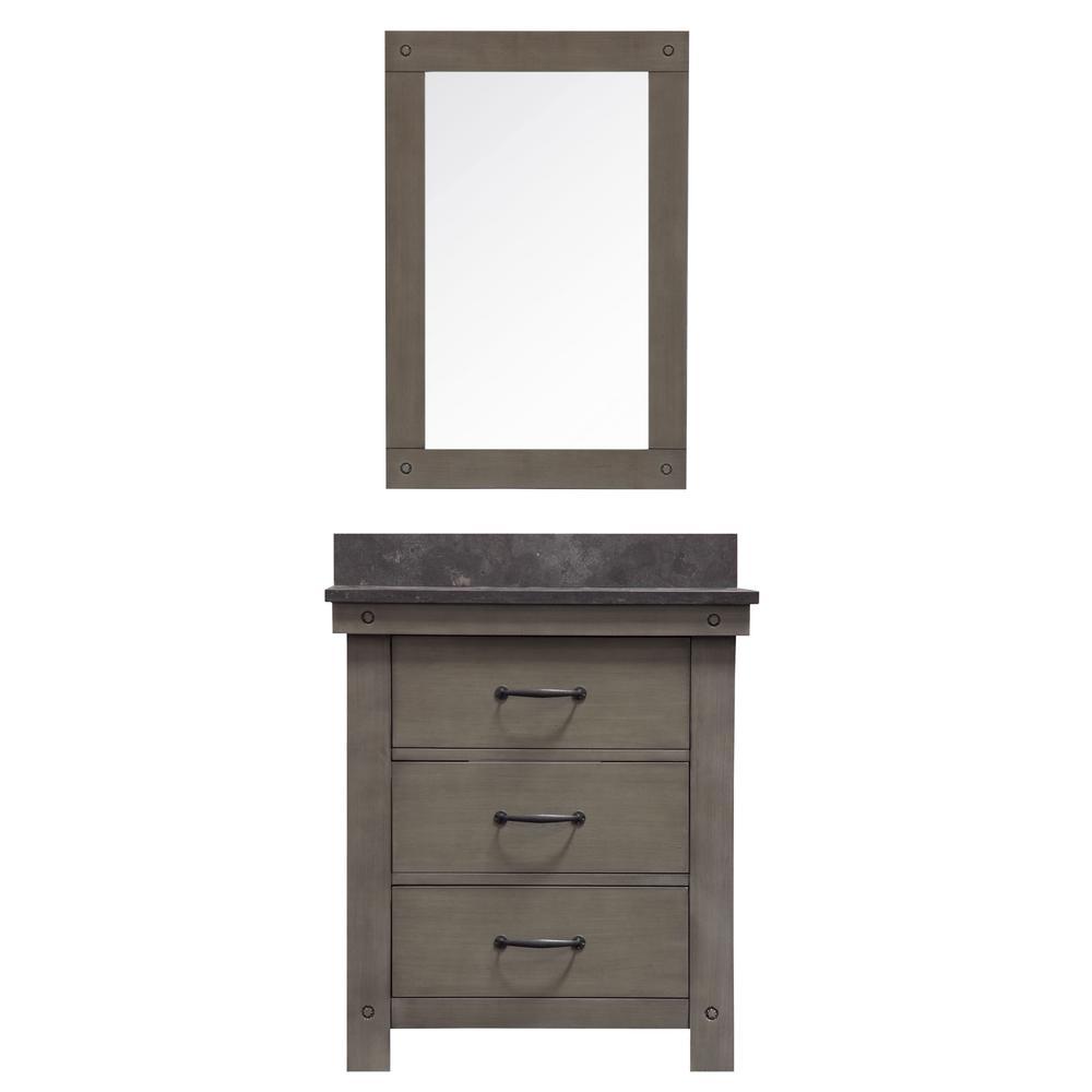 H Vanity In Gray With Granite