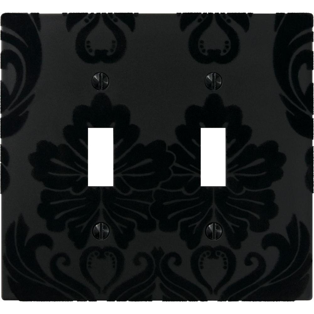 Velvet 2 Toggle Wall Plate - Black
