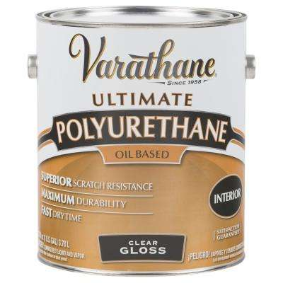 1 gal. Clear Gloss Oil-Based Interior Polyurethane (2-Pack)