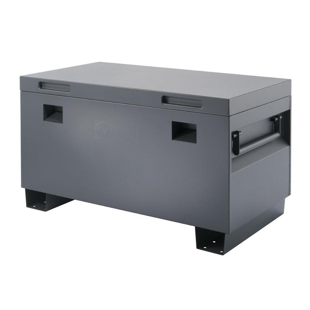 45 in. Job Site Box, Gray