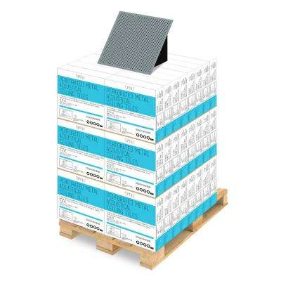 Blue 2 ft. x 2 ft. Perforated Metal Ceiling Tiles (1-Pallet of 40 cases)