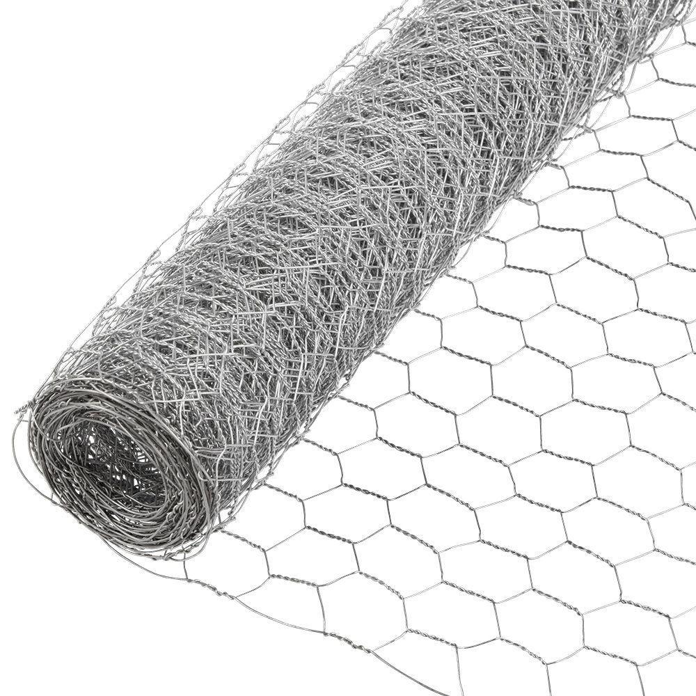 Everbilt 1 in. x 3 ft. x 50 ft. 20-Gauge Galvanized Poultry Netting ...
