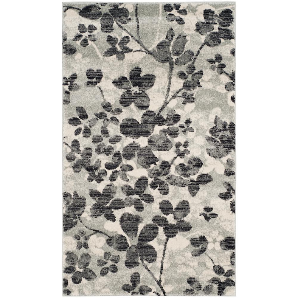 safavieh evoke black gray 9 ft x 12 ft area rug evk256r 9 the home depot. Black Bedroom Furniture Sets. Home Design Ideas