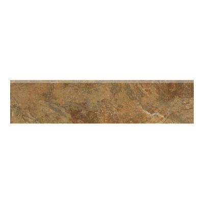 Imperial Slate 3 in. x 12 in. Tan Ceramic Bullnose Floor and Wall Tile