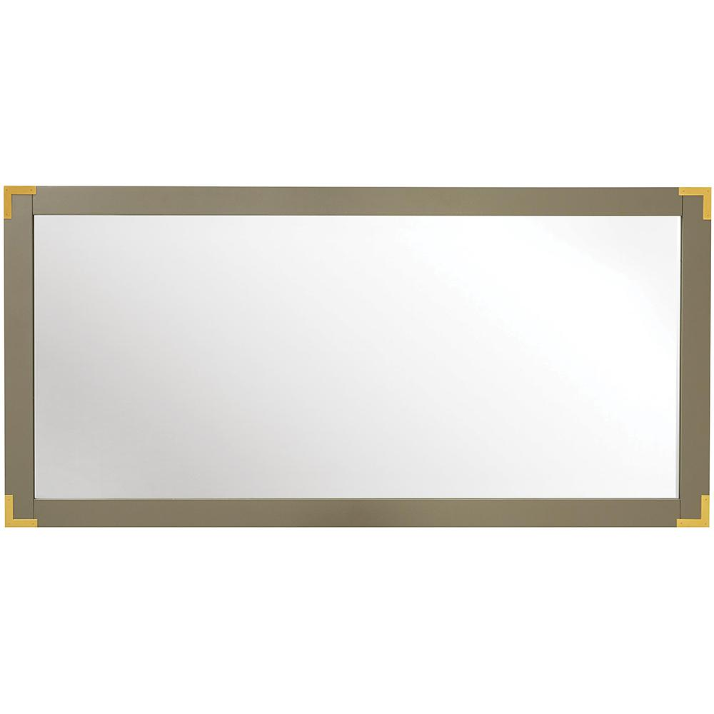 Home Decorators Collection Chatham 30 in. H x 62 in. W Double Framed Mirror in Taupe Grey