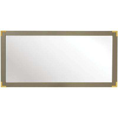 Chatham 30 in. H x 62 in. W Double Framed Mirror in Taupe Grey