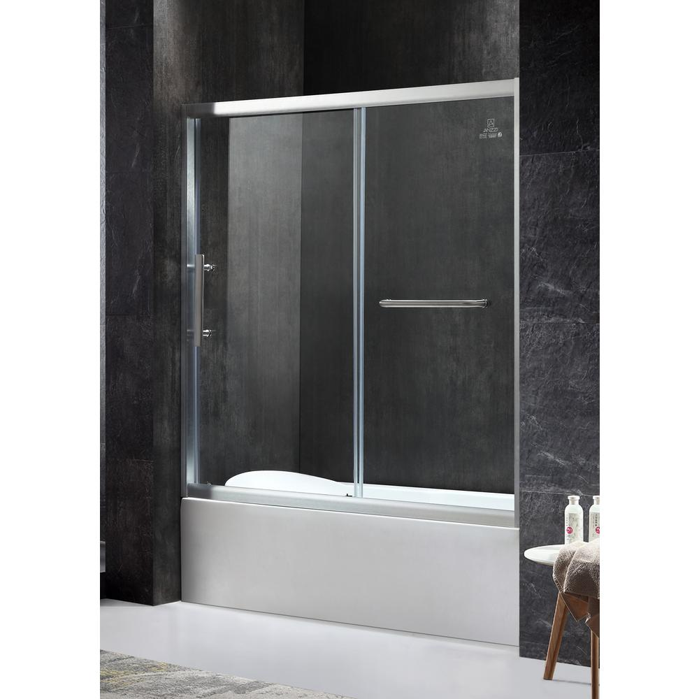 Kohler Levity 59 In X 62 In Semi Frameless Sliding Tub