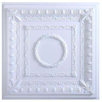 Royal 2 ft. x 2 ft. Lay-in or Glue-up Ceiling Tile in White (40 sq. ft. / case)