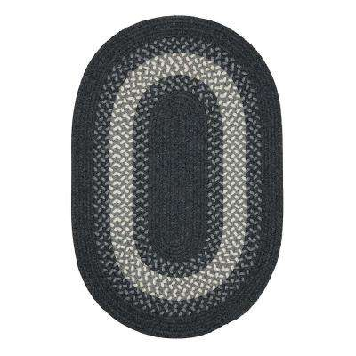Chancery Charcoal 2 ft. x 3 ft. Oval Braided Area Rug