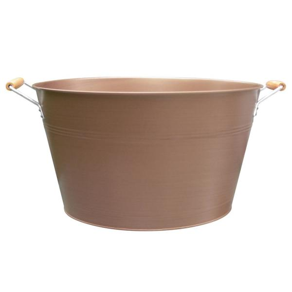 undefined Oval Party Tub 20 Gal. with Handles Antique Copper