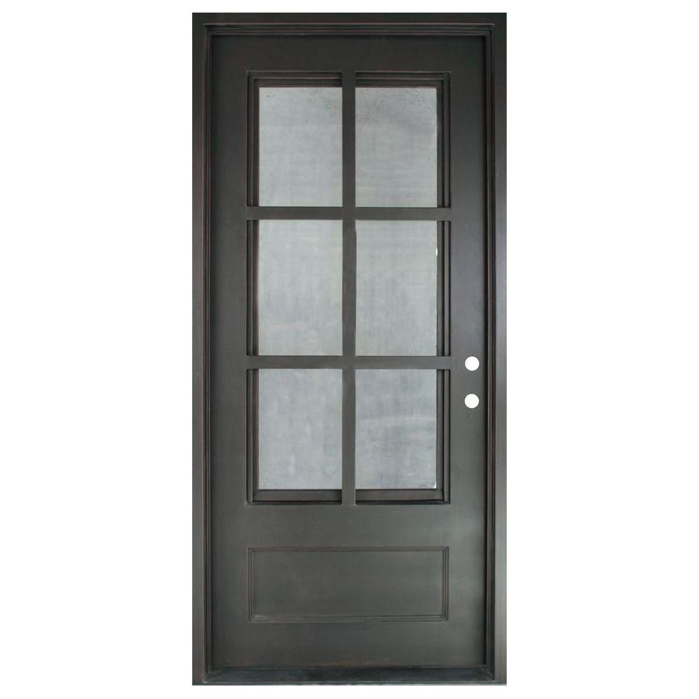 Iron Doors Unlimited 46 In X 975 In Craftsman Classic 6 Lite