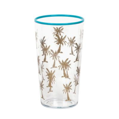 21 oz. Tropical Gold Accents Palm Tree Jumbo (Set of 6)