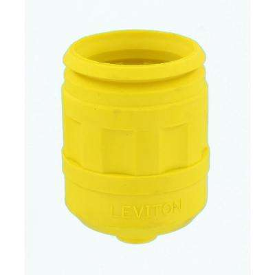 Weather Resistant Boot for 15/20 Amp 3, 4-Wire Straight or Locking Plug, Yellow