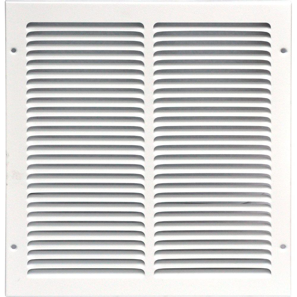 12 in. x 12 in. Return Air Vent Grille, White with