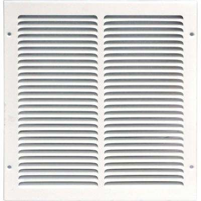 12 in. x 12 in. Return Air Vent Grille, White with Fixed Blades