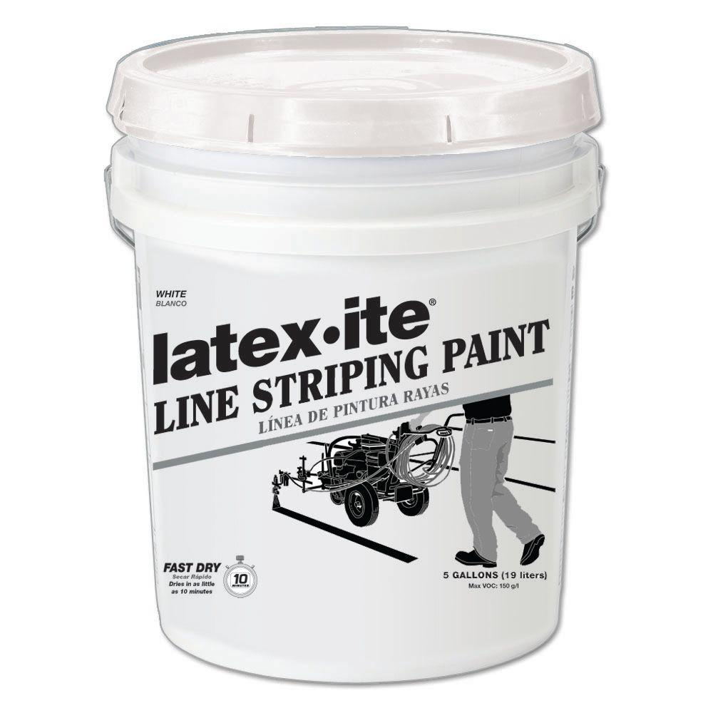 Latex-ite 5 gal. White Line Striping Paint