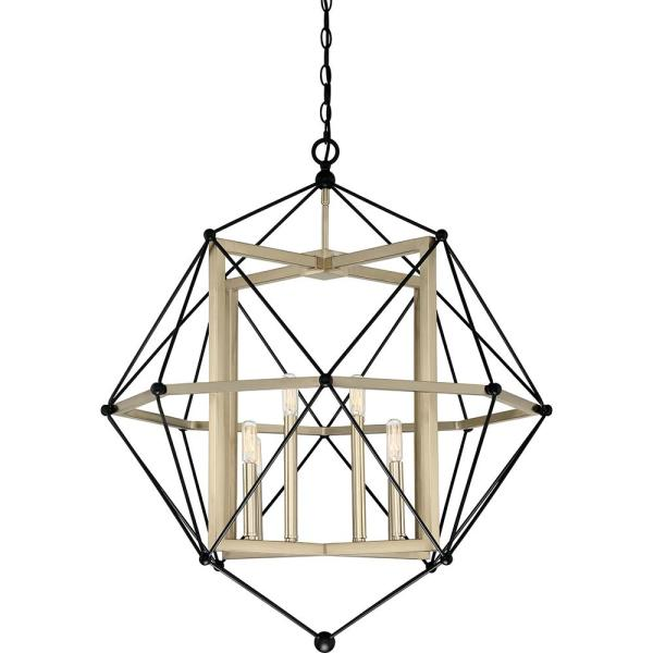 Division 8-Light Earth Black Pendant