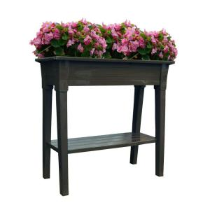 Adams Manufacturing 36 inch x 15 inch Earth Brown Deluxe Resin Garden Planter by Adams Manufacturing