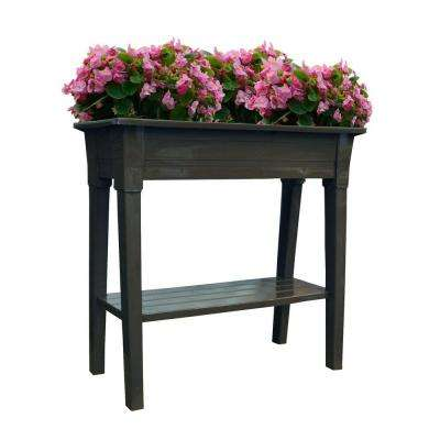 36 in. x 15 in. Earth Brown Deluxe Resin Garden Planter