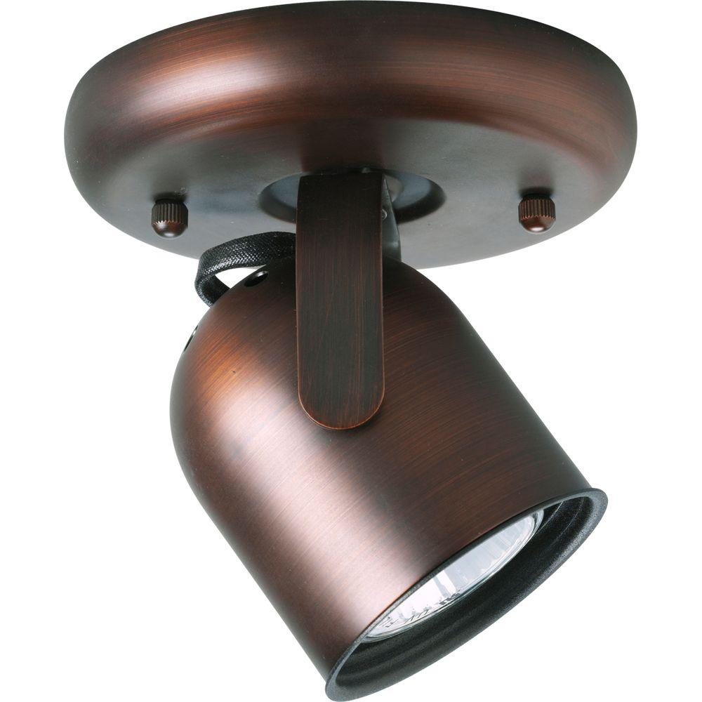 Progress Lighting 1-Light Urban Bronze Spotlight Fixture
