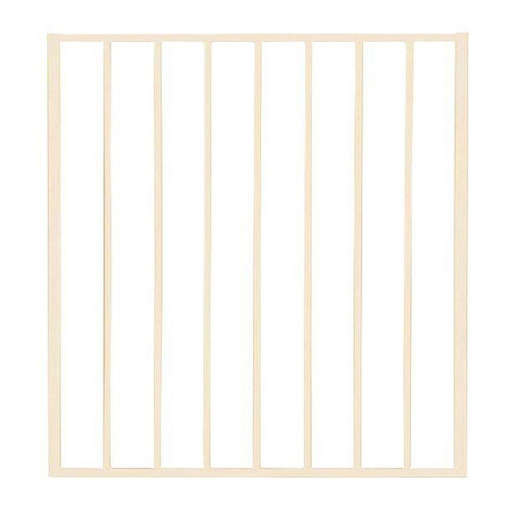 Pro Series 3 ft. x 2.6 ft. Navajo White Steel Fence