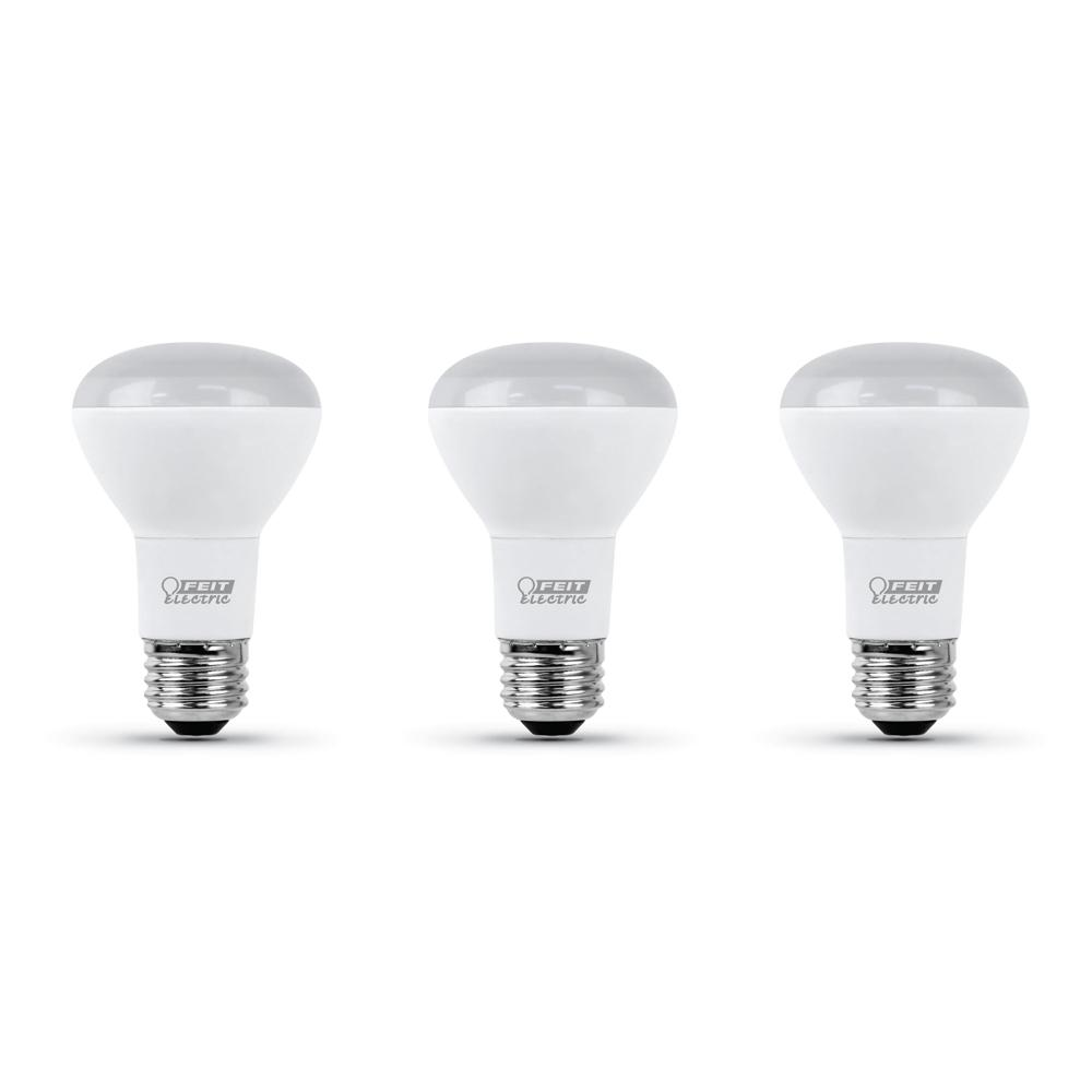 GE Classic 3-Pack 45 W Equivalent Dimmable Daylight R20 LED Light Fixture Light Bulbs