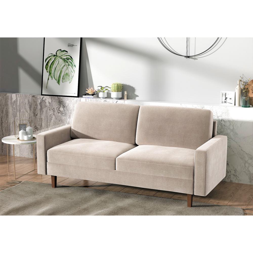 Fine Us Pride Furniture Ross Modern Velvet Ivory 3 Seater Sofa Short Links Chair Design For Home Short Linksinfo