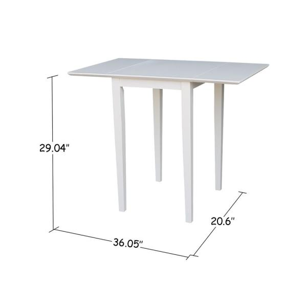 International Concepts Pure White Small Drop Leaf Dining Table T08
