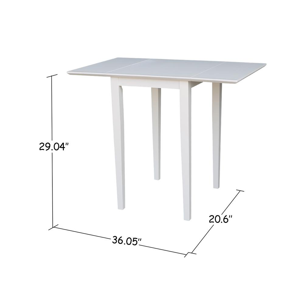 International Concepts Pure White Small Drop Leaf Dining Table