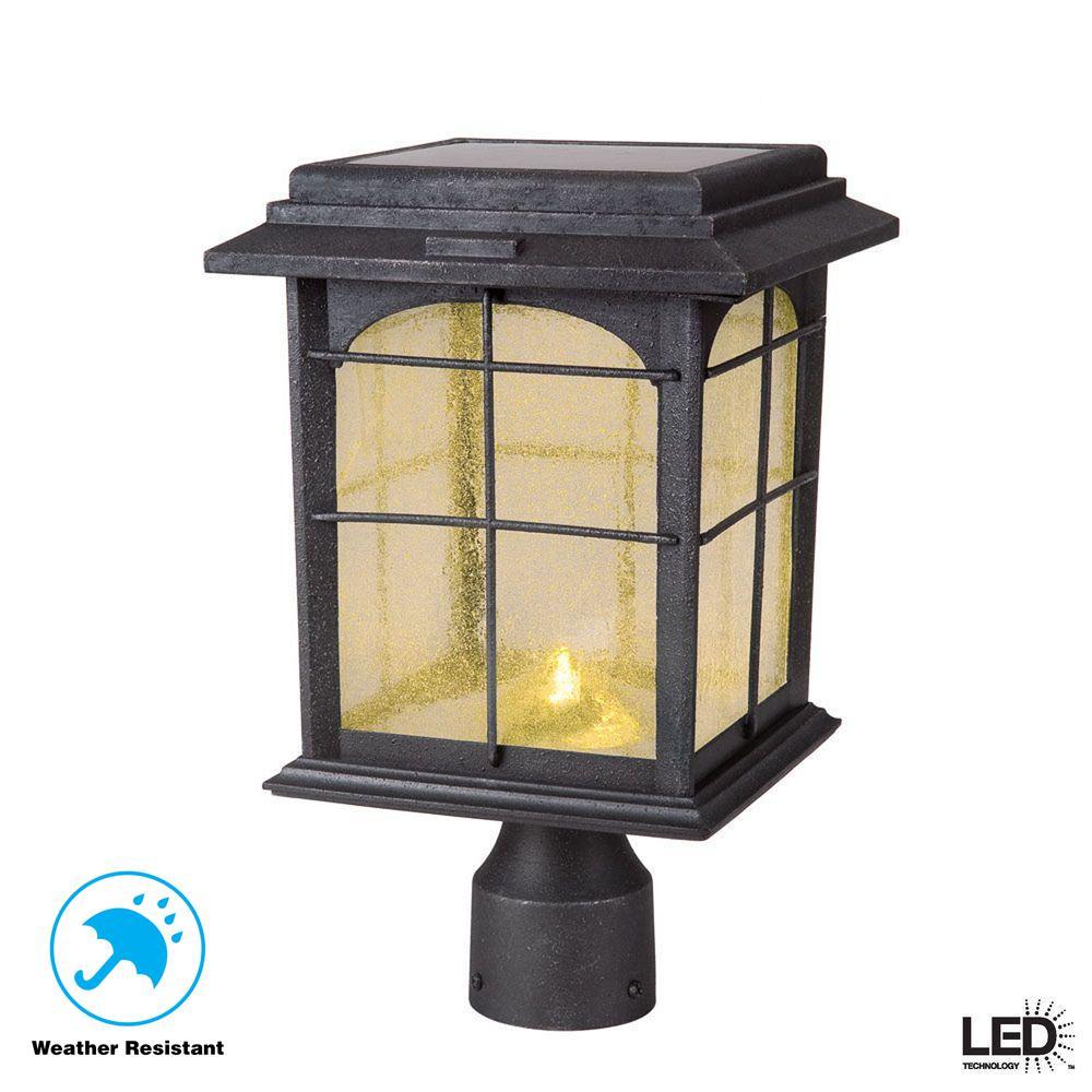 Outside Lights Garden Landscape & Walkway Lights LED Solar Powered 5 ft Traditional Garden Lamp Post Lamppost Lantern Light Decor