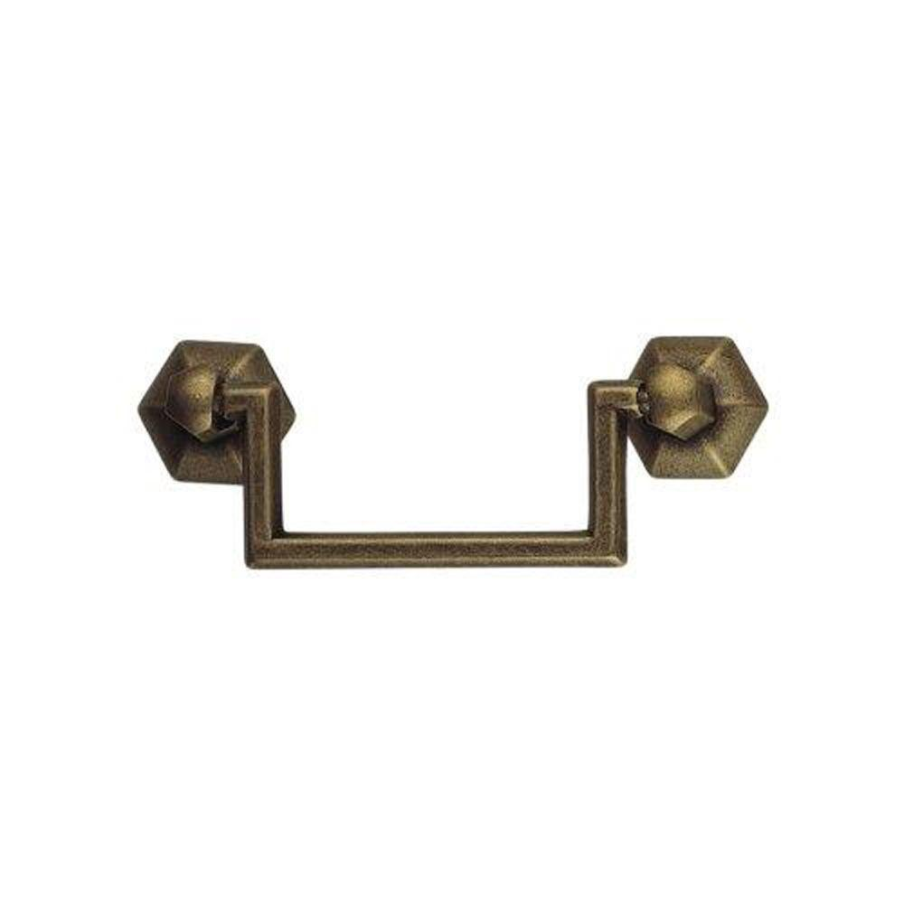 1800 Circa 3.07 in. Antique Brass Dark Drop Pull