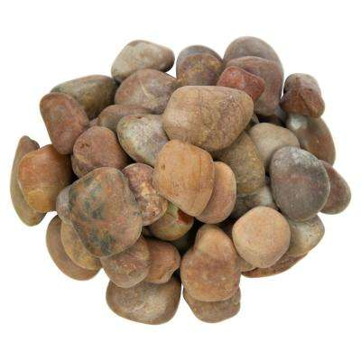 0.5 cu. ft. 1 in. to 2 in. 40 lbs. Red Polished Pebbles Bag