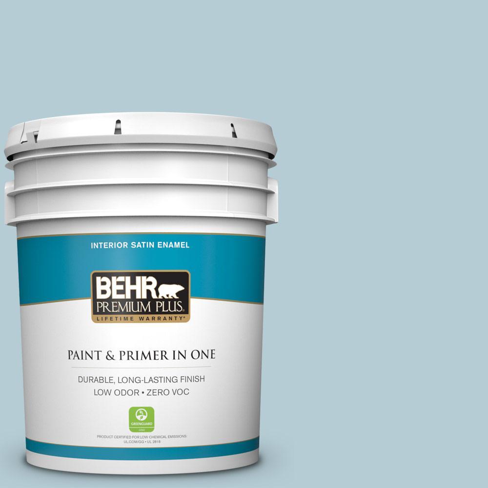 BEHR Premium Plus 5-gal. #530E-3 Sonata Zero VOC Satin Enamel Interior Paint